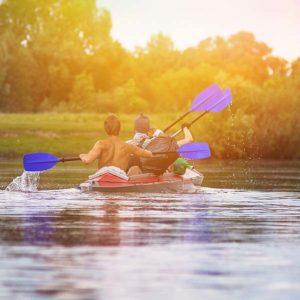 Paddle down the Galena River in Galena, Illinois