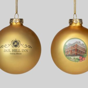 Jail Hill, Galena, Illinois, Round Christmas Holiday Ornament