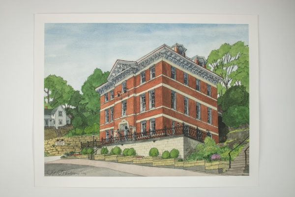 Jail Hill Water Color Print