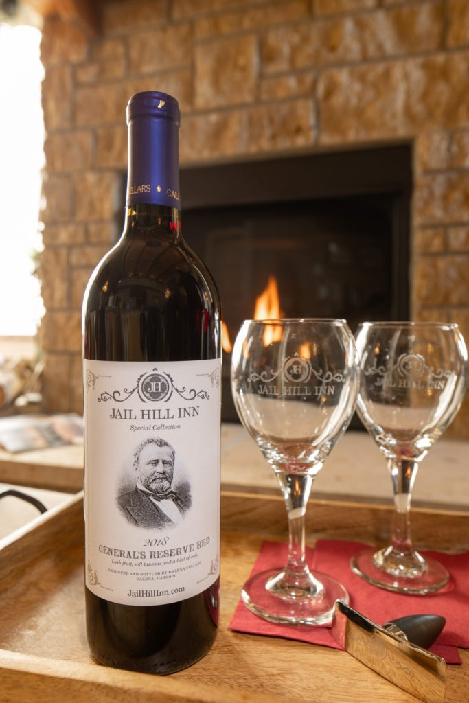 Special Label wines with Galena Cellars at our Galena Bed and Breakfast