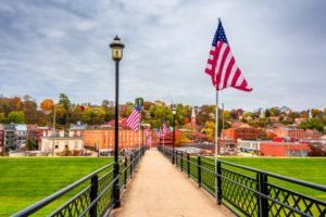 A beautiful view of downtown, where exploring the shops is one of our favorite things to do in Galena
