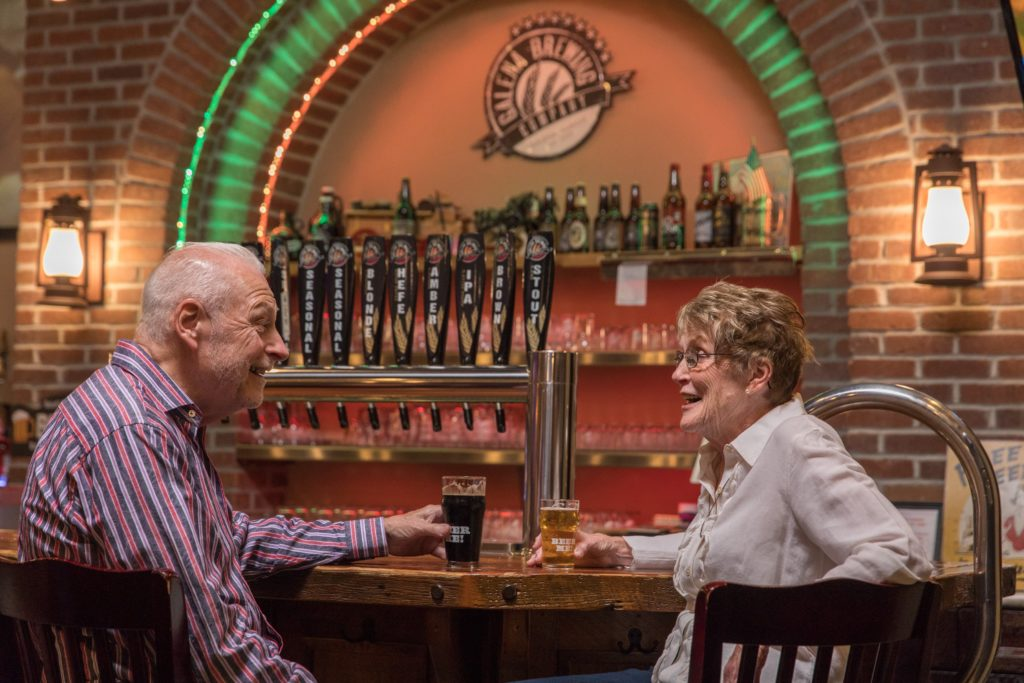 Enjoy a craft brew at the Galena Brewing Company in downtown Galena This Summer