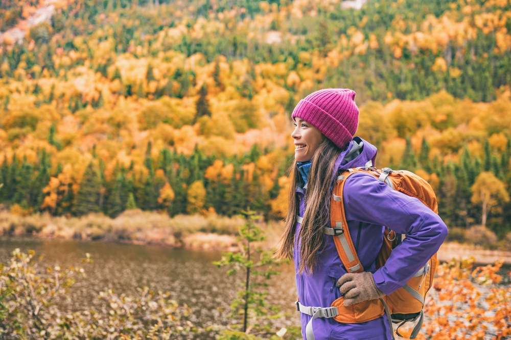 Enjoy a bit of fall hiking at Apple River Canyon State Park Near Galena